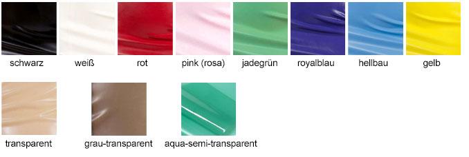 Farbtabelle Inkoline für Latex-Mode
