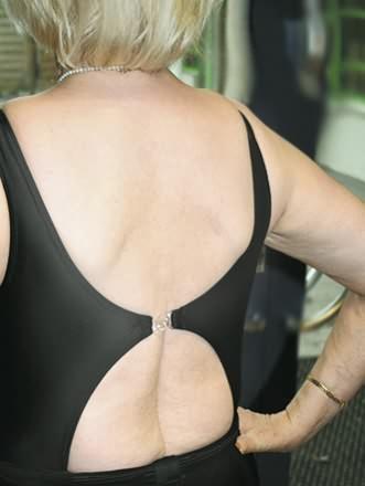Ansicht Rückenverschluss zum Badeanzug 1519 von suprima