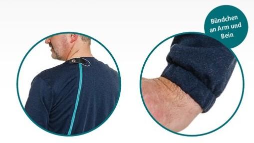 Sicherheitsknopf am Rückenreißverschluss, Pflegeoverall CarePlus 4744 für Kinder von Suprima