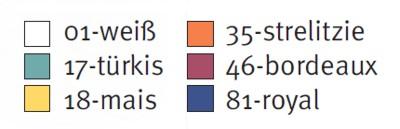 Sanisana Pflegeoveralls - Farben