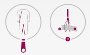 suprima Pflegeoverall CareFunction 4703 mit Beinreißverschluss, Rückenreißverschluss
