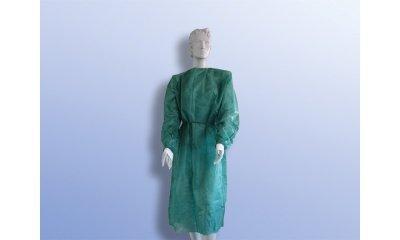 Schutzkittel steril, 125 x 145 cm, Grün, 25 Stück