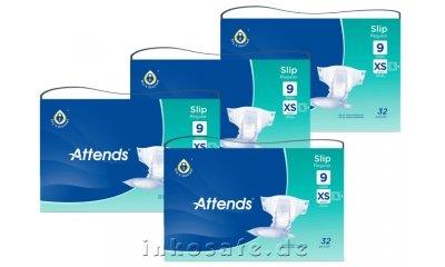 ATTENDS Slip Regular 9 X-Small (XS), Windelhosen, 128 Stück