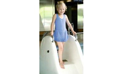 Badeanzug-Badekleid suprima 1523, für Mädchen, hellblau