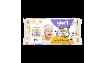 Bella Happy Baby Feuchttücher Milch und Honig, 64 Stück