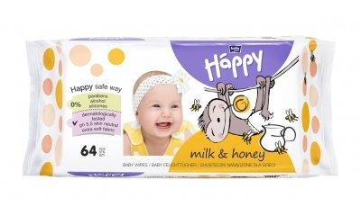 Baby Feuchttücher mit Milch und Honig, 64 Stück