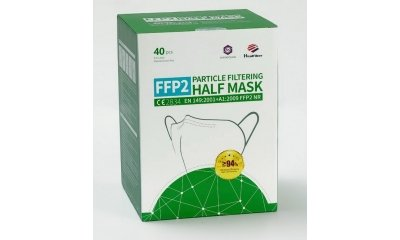 FFP2 NR partikelfiltrierende Halbmaske ohne Ventil, 40 Stück