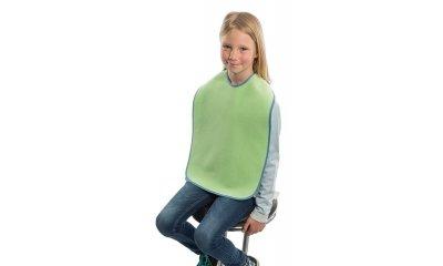 Latz für Kinder suprima 5015, Frottee, mit Schlaufen, Grün