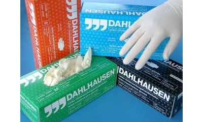 Latex-Handschuhe Größe M (Medium), puderfei, 100 Stück