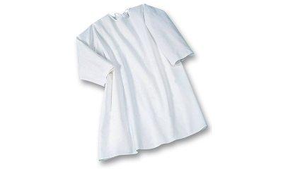 Pflegehemd suprima 4061, Weiß, Rücken offen, Langarm