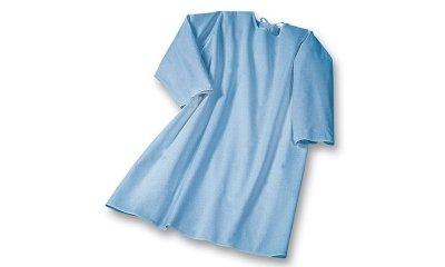 Pflegehemd suprima 4062, Blau, Rücken offen, Langarm
