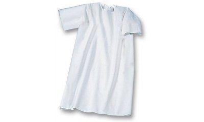 Pflegehemd suprima 4071, Weiß, Rücken offen, Kurzarm