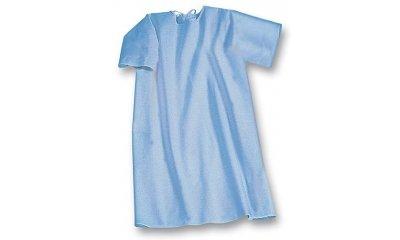 Pflegehemd suprima 4072, Blau, Rücken offen, Kurzarm