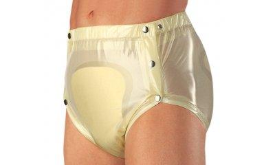 PVC-Slip suprima 1249, knöpfbar, Farbe weiß