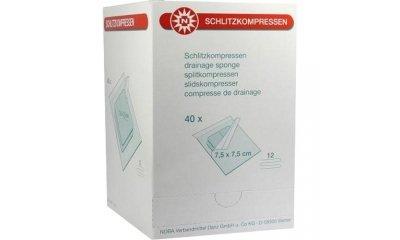 Schlitzkompressen 7,5x7,5 cm, steril, 12-fach, 40x2 Stück
