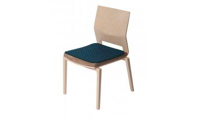 Sitzauflage suprima 3700, blau-grün, 45 x 45 cm