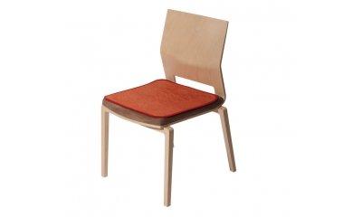 Sitzauflage suprima 3702, terrakotta, 45 x 45 cm