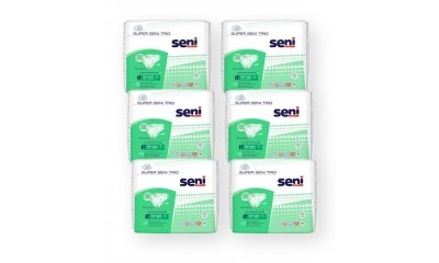 Super SENI TRIO Large (L) Windelhosen, 60 Stück