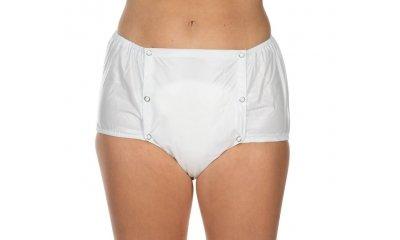 PVC-Hose suprima 1201, Inkontinenzslip, knöpfbar, weiß