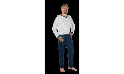 Pflege-Schlafanzug suprima 4716, Rücken- u. Bein-RV