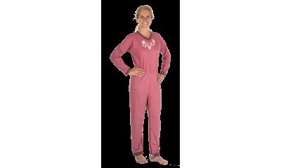 Pflege-Schlafanzug suprima 4717, Rücken- u. Bein-RV