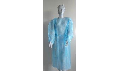 Vlies-Einwegkittel unsteril, 120 x 145 cm, Blau, 100 Stück