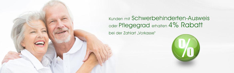 4 - Rabatt Pflegegrad oder Schwerbehinderten-Ausweis