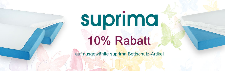 1 - suprima 10% Rabatt auf ausgewählten Bettschutz